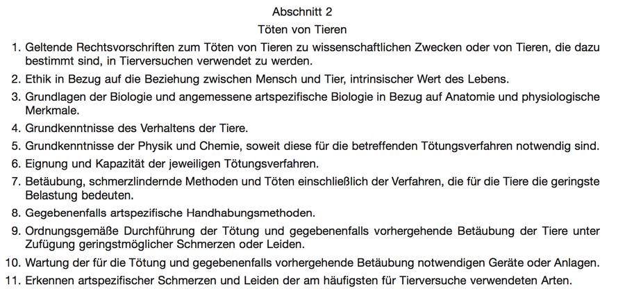 Dr. Lotte P. Hofmann - TierSchVersV (FUNKTION D)