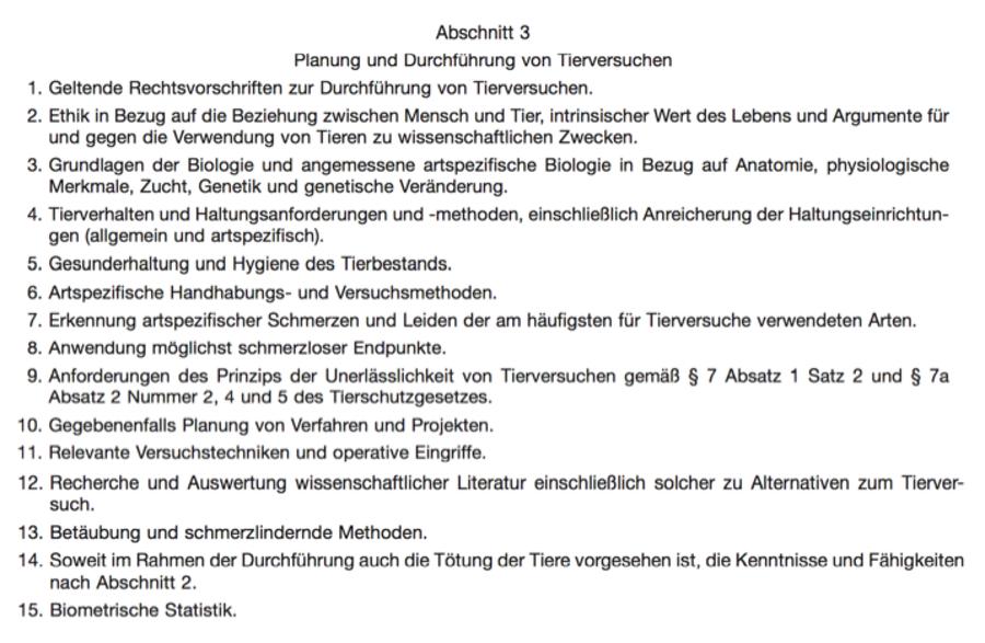 Dr. Lotte P. Hofmann - TierSchVersV (FUNKTION A und B)